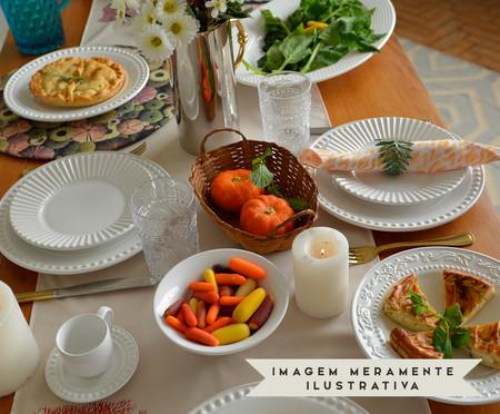 Jogo de Xícaras para Chá em Cerâmica Atenas 06 Pessoas - Branco | WestwingNow