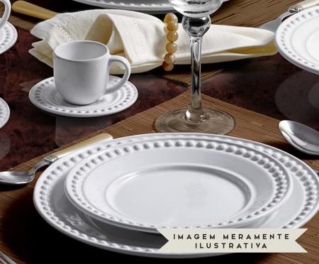 Jogo de Xícaras e Pires para Café em Cerâmica Atenas Branco - 06 Pessoas | WestwingNow