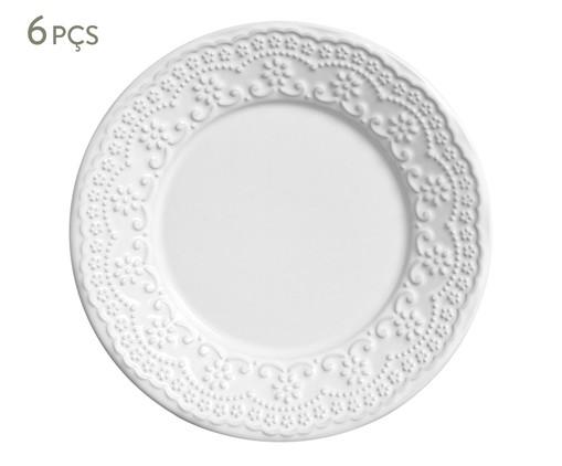 Jogo de Pratos para Sobremesa Madeleine Branco - 06 Pessoas, Branco | WestwingNow