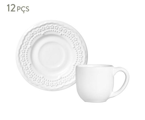 Jogo de Xícaras para Café em Cerâmica Madeleine - Branco, Branco   WestwingNow