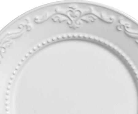 Jogo de Pratos para Sobremesa em Cerâmica Acanthus Branco - 06 Pessoas | WestwingNow