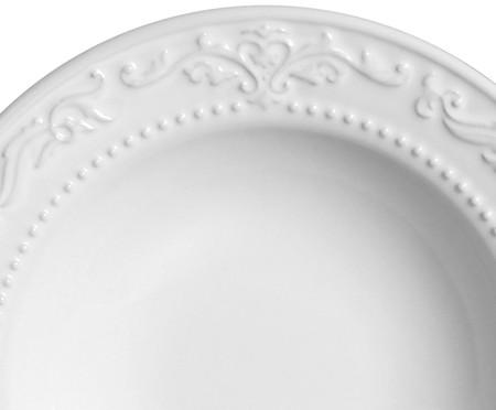 Jogo de Pratos Fundos em Cerâmica Acanthus Branco - 06 Pessoas | WestwingNow