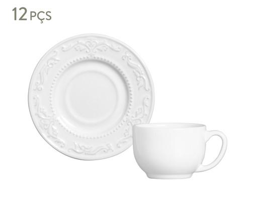 Jogo de Xícaras para Chá Acanthus - Branco, Branco | WestwingNow