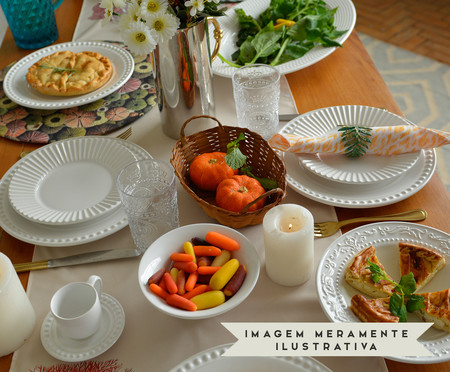 Jogo de Xícaras para Chá Acanthus - Branco | WestwingNow