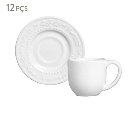 Jogo de Xícaras para Café em Cerâmica Acanthus - Branco | WestwingNow