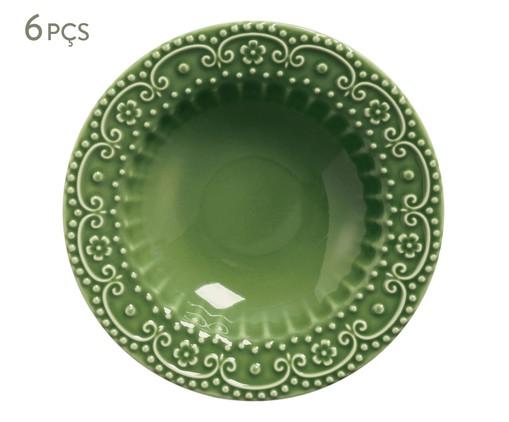 Jogo de Pratos Fundos em Cerâmica Esparta 06 Pessoas - Verde, Verde | WestwingNow