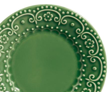 Jogo de Pratos para Sobremesa em Cerâmica Esparta - Verde Sálvia | WestwingNow