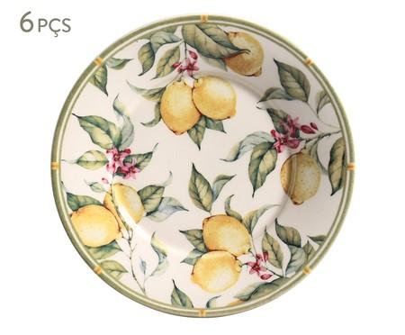 Jogo de Pratos para Sobremesa em Cerâmica Mônaco Limone - Colorido | WestwingNow