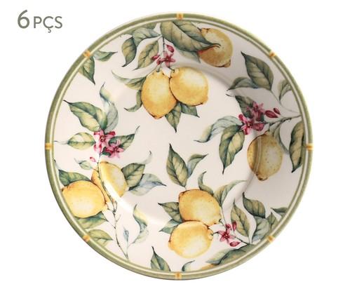 Jogo de Pratos para Sobremesa Mônaco Limone - 06 Pessoas, multicolor | WestwingNow