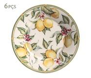 Jogo de Pratos para Sobremesa em Cerâmica Mônaco Limone - 06 Pessoas | WestwingNow