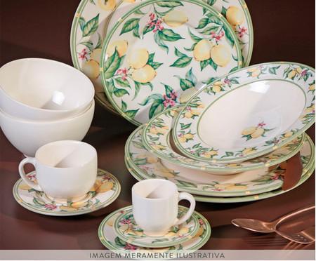 Jogo de Xícaras para Chá em Cerâmica Mônaco Limone - Colorido   WestwingNow