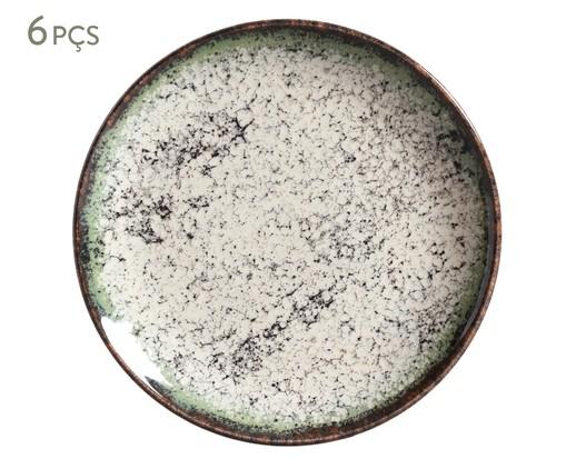 Jogo de Pratos para Sobremesa em Cerâmica Coup Cosmos - 06 Pessoas, Verde | WestwingNow