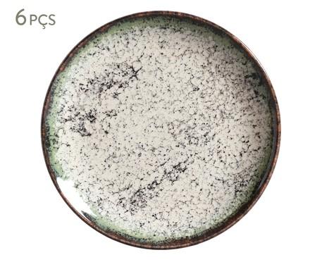 Jogo de Pratos para Sobremesa em Cerâmica Coup Cosmos - 06 Pessoas | WestwingNow