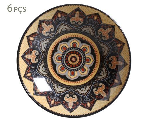 Jogo de Pratos Fundos em Cerâmica Coup Eufrates - 06 Pessoas, multicolor | WestwingNow