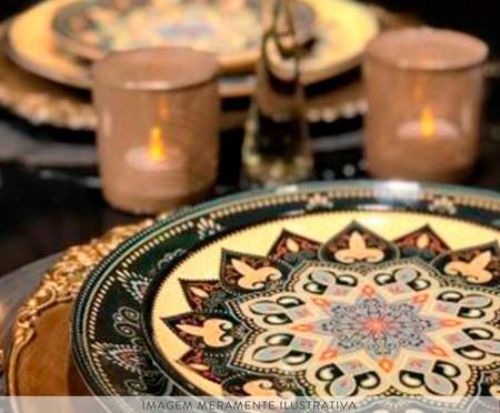 Jogo de Pratos Rasos em Cerâmica Coup Eufrates - Colorido | WestwingNow