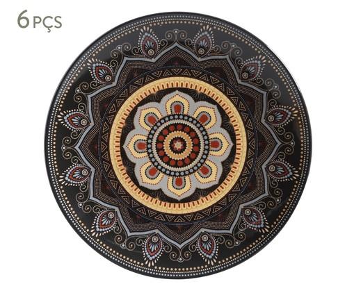Jogo de Pratos Rasos em Cerâmica Coup Eufrates 06 Pessoas - Estampado, multicolor   WestwingNow