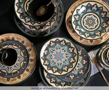 Jogo de Pratos para Sobremesa em Cerâmica Coup Eufrates - Colorido | WestwingNow