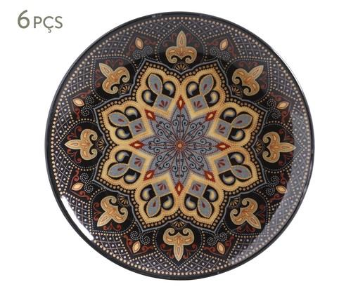 Jogo de Pratos para Sobremesa em Cerâmica Coup Eufrates - Colorido, multicolor   WestwingNow