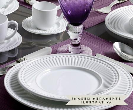 Jogo de Pratos Rasos em Cerâmica Roma 06 Pessoas - Branco | WestwingNow