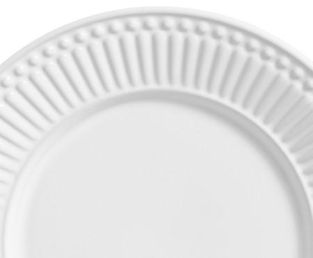 Jogo de Pratos para Sobremesa em Cerâmica Roma - Branco | WestwingNow
