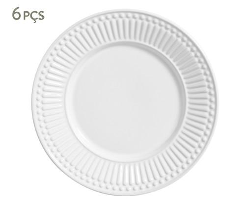 Jogo de Pratos para Sobremesa em Cerâmica Roma - Branco, Branco | WestwingNow