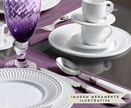 Jogo de Pratos para Sobremesa em Cerâmica Roma Branco - 06 Pessoas | WestwingNow