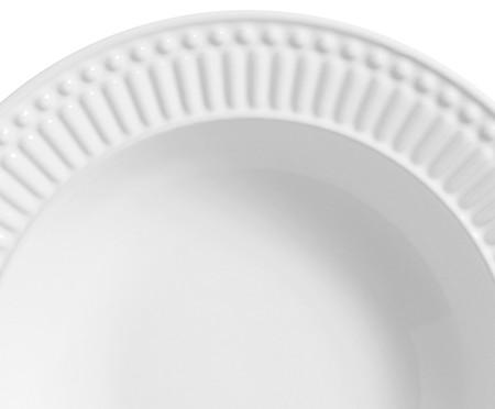 Jogo de Pratos Fundos em Cerâmica Roma 06 Pessoas - Branco | WestwingNow