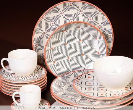 Jogo de Pratos Rasos em Cerâmica Coup Geometria - Colorido | WestwingNow