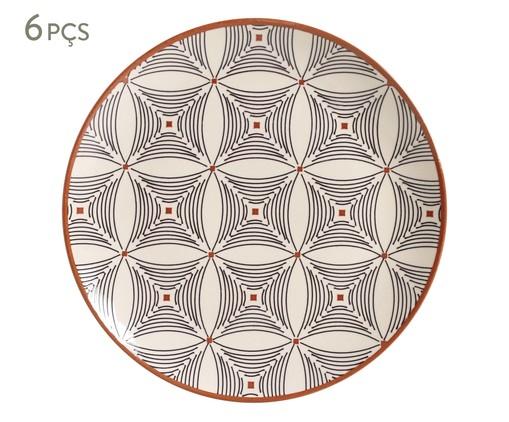 Jogo de Pratos Rasos em Cerâmica Coup Geometria 06 Pessoas - Estampado, multicolor | WestwingNow