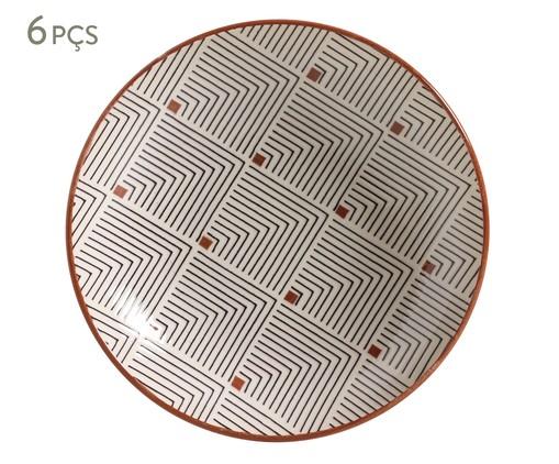 Jogo de Pratos Fundos em Cerâmica Coup Geometria - Estampado, multicolor | WestwingNow