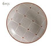 Jogo de Pratos Fundos em Cerâmica Coup Geometria - Estampado | WestwingNow