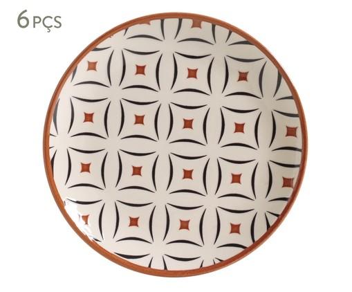 Jogo de Pratos para Sobremesa em Cerâmica Coup Geometria - Estampado, multicolor | WestwingNow