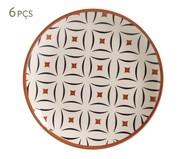 Jogo de Pratos para Sobremesa em Cerâmica Coup Geometria - Estampado | WestwingNow