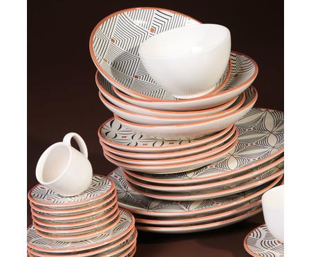 Jogo de Xícaras para Café e Pires em Cerâmica Coup Geometria - Colorido | WestwingNow