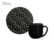 Jogo de Xícaras e Pires para Café em Cerâmica Coup Chevron - 06 Pessoas | WestwingNow