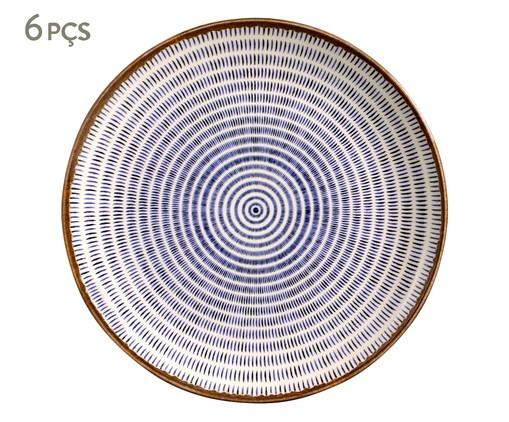 Jogo de Pratos Rasos em Cerâmica Coup Asteca 06 Pessoas - Colorido, multicolor | WestwingNow