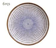 Jogo de Pratos Rasos em Cerâmica Coup Asteca 06 Pessoas - Colorido | WestwingNow