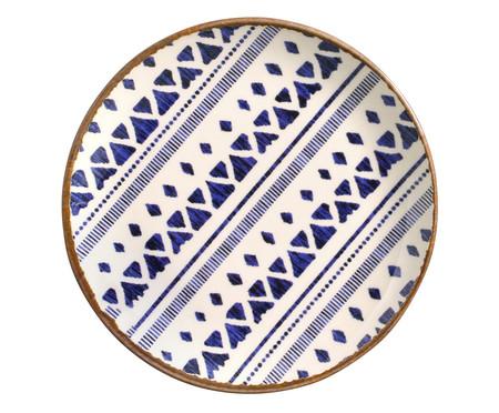 Jogo de Pratos para Sobremesa em Cerâmica Coup Asteca - Azul | WestwingNow
