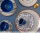 Jogo de Pratos para Sobremesa em Cerâmica Coup Asteca - Azul, multicolor | WestwingNow