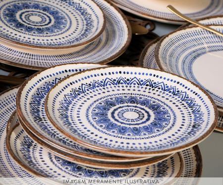 Jogo de Pratos Rasos em Cerâmica Coup Inca - Azul | WestwingNow
