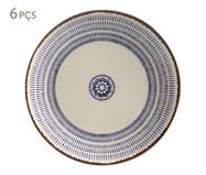 Jogo de Pratos Rasos em Cerâmica Coup Inca 06 Pessoas - Estampado | WestwingNow