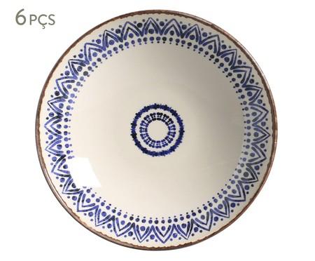 Jogo de Pratos Fundos em Cerâmica Coup Inca - Azul | WestwingNow