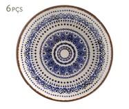Jogo de Pratos para Sobremesa em Cerâmica Coup Inca - 06 Pessoas | WestwingNow