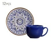 Jogo de Xícaras para Chá e Pires em Cerâmica Coup Inca 06 Pessoas - Estampado | WestwingNow