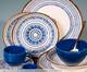 Jogo de Xícaras para Café e Pires em Cerâmica Coup Inca - Azul, Azul | WestwingNow