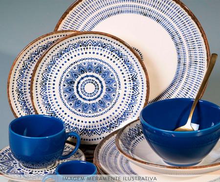 Jogo de Xícaras para Café e Pires em Cerâmica Coup Inca - Azul   WestwingNow