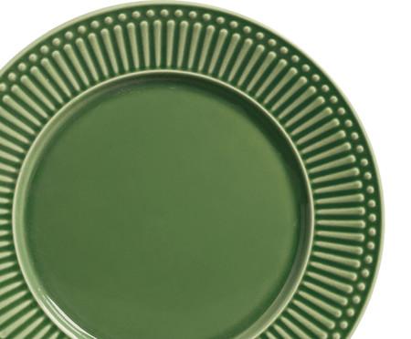 Jogo de Pratos Rasos em Cerâmica Roma 06 Pessoas Porto Brasil - Verde | WestwingNow