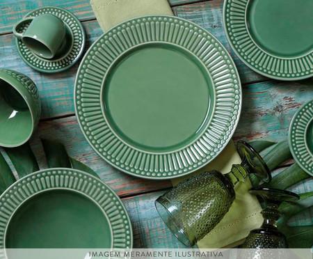 Jogo de Pratos Rasos em Cerâmica Roma - Verde | WestwingNow