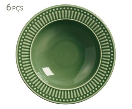 Jogo de Pratos Fundos em Cerâmica Roma - Verde Sálvia | WestwingNow