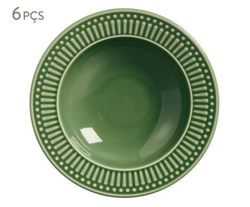 Jogo de Pratos Fundos em Cerâmica Roma Verde - 06 Pessoas, Verde | WestwingNow